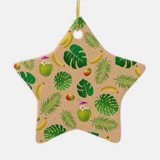 Motif tropical ornement étoile en céramique