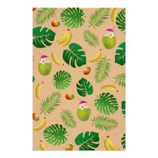 Motif tropical papier à lettre customisé