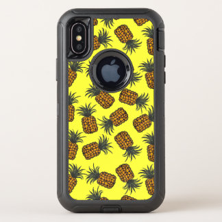 motif tropical peint à la main coloré d'ananas