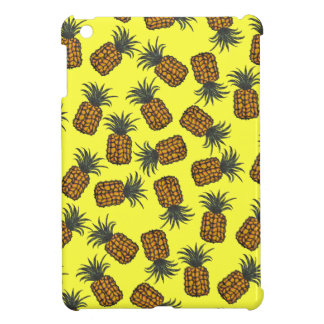 motif tropical peint à la main coloré d'ananas coque iPad mini