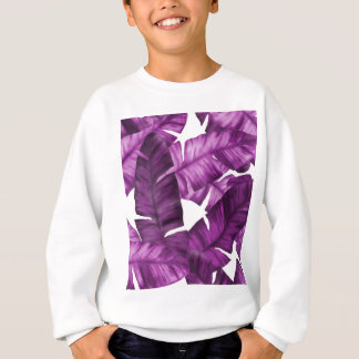 Motif tropical rose de feuille de banane sweatshirt