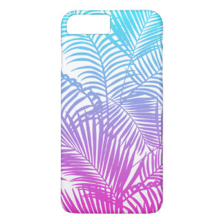 Motif tropical turquoise rose moderne de palmiers coque iPhone 8 plus/7 plus