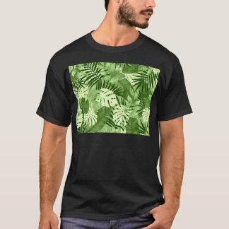 Motif tropical vert de feuille t-shirt