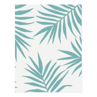Motif tropical vert sensible de feuille carte postale