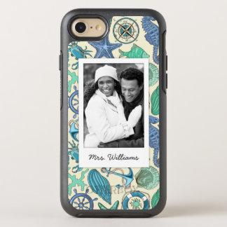 Motif turquoise | d'animaux de mer votre photo et coque otterbox symmetry pour iPhone 7