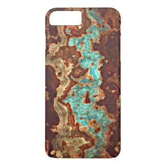 Motif unique de marbre de Geode de turquoise Coque iPhone 7 Plus