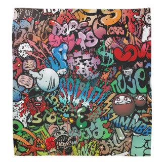 Motif urbain de caractères de graffiti d'art de bandanas