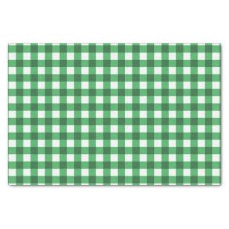 Motif vérifié par guingan assez vert papier mousseline