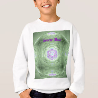 Motif vert artistique d'hexagone de maman du sweatshirt