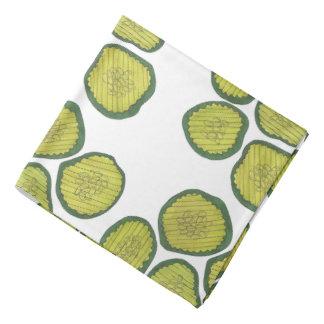 Motif vert cacher de conserves au vinaigre bandana