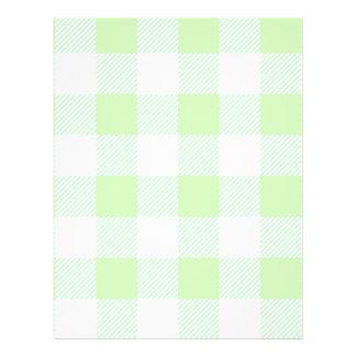 Motif vert clair de contrôle de guingan prospectus 21,6 cm x 24,94 cm