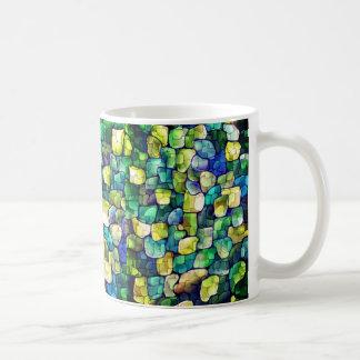 Motif vert contemporain mug