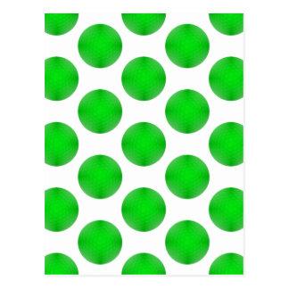 Motif vert de boule de golf cartes postales