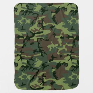 Motif vert de Camo Brown de camouflage Couvertures De Bébé
