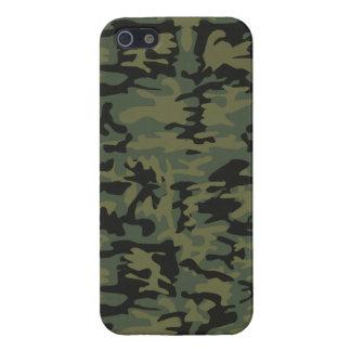 Motif vert de camo étuis iPhone 5