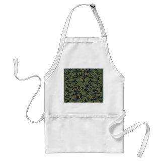 Motif vert de camo tablier