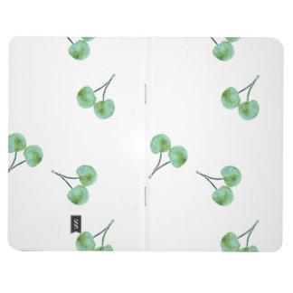 Motif vert de cerise carnet de poche
