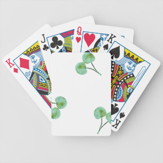 Motif vert de cerise jeu de cartes