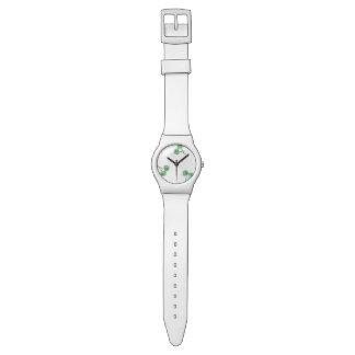 motif vert de cerise montre