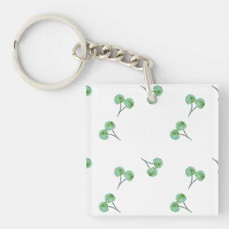 Motif vert de cerise porte-clefs