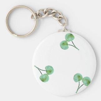 Motif vert de cerise porte-clés