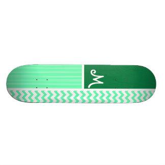 Motif vert de Chevron Plateau De Skateboard