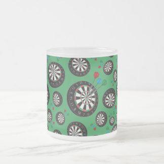 Motif vert de cible mug en verre givré