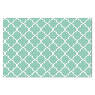 Motif vert de Marocain et blanc en bon état de Papier Mousseline