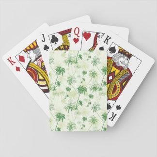 Motif vert de palmier cartes à jouer