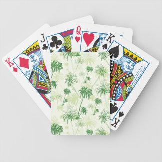 Motif vert de palmier jeu de cartes
