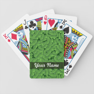 Motif vert de shamrock jeu de poker
