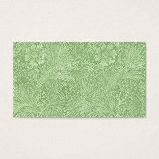 Motif (vert) de souci de William Morris Cartes De Visite
