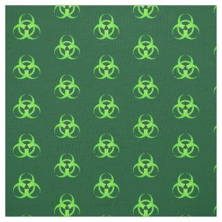 Motif vert de symbole de Biohazard Tissu