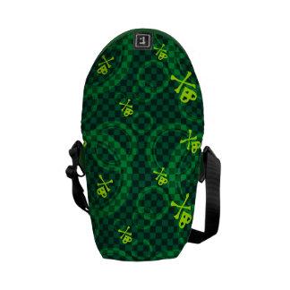 Motif vert d'Emo avec des cercles Besace