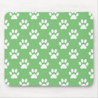 Motif vert et blanc de pattes tapis de souris