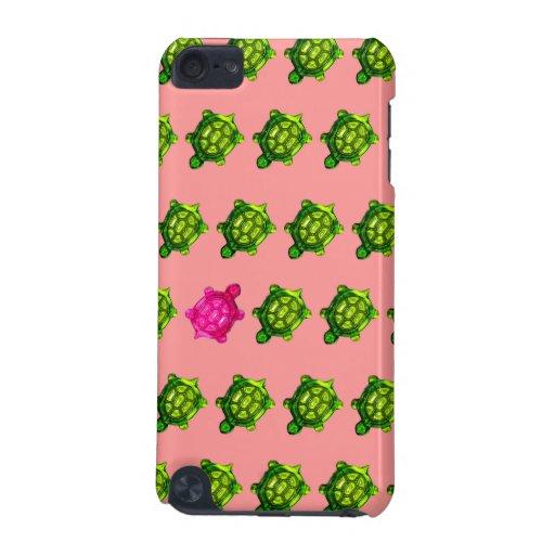 Motif vert et rose de peu de tortue