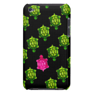 Motif vert et rose de peu de tortue coque iPod touch Case-Mate