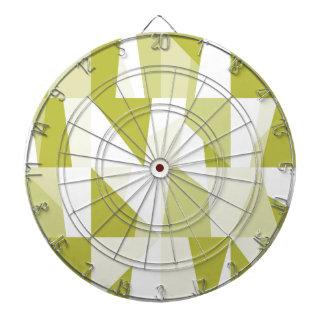 Motif vert géométrique cible de fléchettes