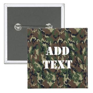 Motif vert militaire de camouflage badges