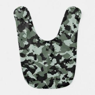Motif vert militaire de camouflage bavoirs de bébé