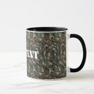 Motif vert militaire de camouflage mug