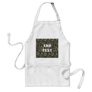 Motif vert militaire de camouflage tablier