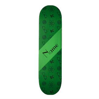 Motif vert nommé personnalisé de geek skateboards personnalisés