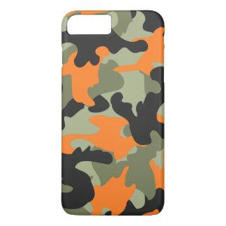 Motif vert orange noir de camouflage de Camo mince Coque iPhone 7 Plus
