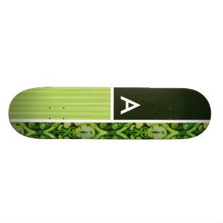 Motif vert vintage skateboards personnalisés