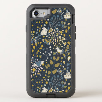 Motif vintage abstrait coque OtterBox defender iPhone 8/7