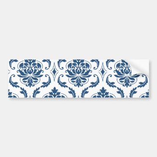 Motif vintage blanc nautique de damassé de bleu adhésif pour voiture