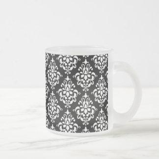 Motif vintage blanc noir 1 de damassé tasse à café