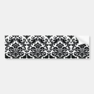 Motif vintage blanc noir élégant de damassé adhésifs pour voiture