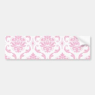 Motif vintage blanc rose Girly de damassé Autocollant Pour Voiture
